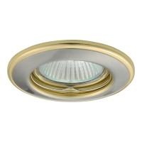 Светильник точечный HORN CTC-3114-SN/G, Gx5.3, IP20, никель сатиновый/Золото, Kanlux 2820