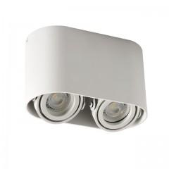 Светильник точечный TOLEO DTO 250-W, 2xGU10, IP20, белый матовый, Kanlux 26117