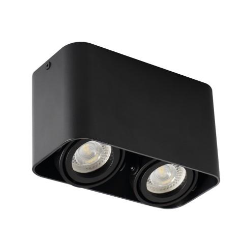 Светильник точечный TOLEO DTL 250-B, 2xGU10, IP20, черный матовый, Kanlux 26119