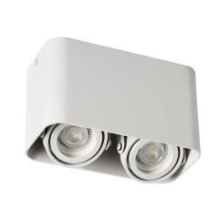 Светильник точечный TOLEO DTL 250-W, 2xGU10, IP20, белый матовый, Kanlux 26120