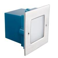 Светильник настенный TAXI SMD L C/M-WW, 0.6W, 10lm, 3000K, IP54, хром, Kanlux 26460