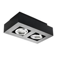 Светильник точечный STOBI DLP 250-B, 2xGU10, IP20, черный, Kanlux 26832