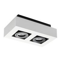Светильник точечный STOBI DLP 250-W, 2xGU10, IP20, белый, Kanlux 26833