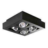 Светильник точечный STOBI DLP 450-B, 4xGU10, IP20, черный, Kanlux 26836