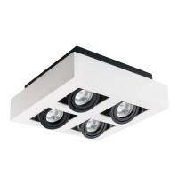Светильник точечный STOBI DLP 450-W, 4xGU10, IP20, белый, Kanlux 26837