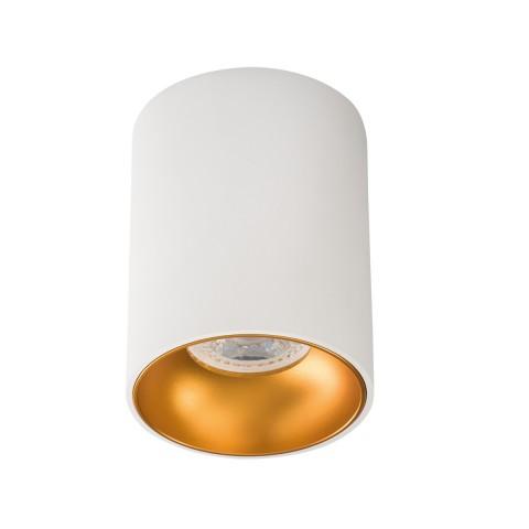Светильник точечный RITI W/G, GU10, IP20, белый/золото, Kanlux 27570