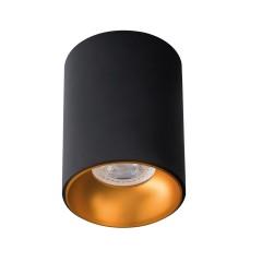Светильник точечный RITI B/G, GU10, IP20, черный/золото, Kanlux 27571