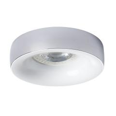 Светильник точечный ELNIS L C/W, Gx5.3/GU10, IP20, хром/белый, Kanlux 27811