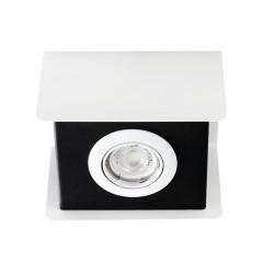 Светильник точечный TORIM DLP-50 W-B, GU10, IP20, белый/черный, Kanlux 28460