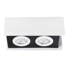 Светильник точечный TORIM DLP-250 W-B, 2xGU10, IP20, белый/черный, Kanlux 28462