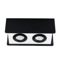 Светильник точечный TORIM DLP-250 B-W, 2xGU10, IP20, черный/белый, Kanlux 28463