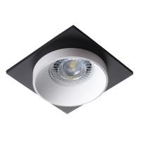 Светильник точечный SIMEN DSL W/W/B, Gx5.3/GU10, IP20, белый/белый/черный, Kanlux 29130